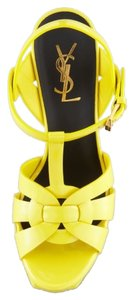 Saint Laurent Ysl Tribute Ysl Tribute Yves Party Chic Sandal High Heel Patent Leather Yellow Platforms
