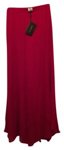 St. John Wide Leg Pants Red