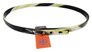 Tory Burch TORY BURCH Elegant Multi-Black xs/s adjustable Resin Skinny Belt