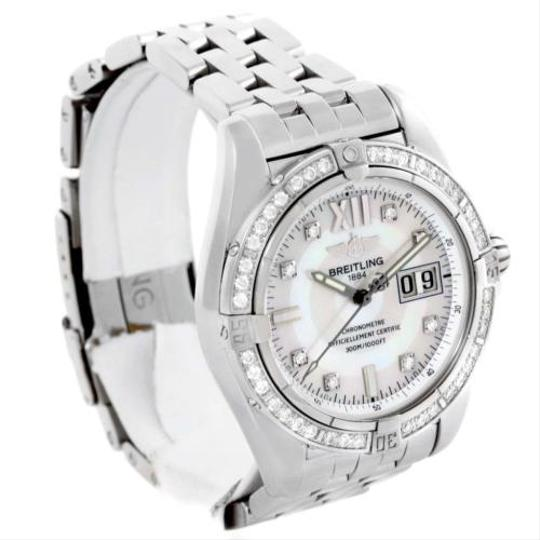 Breitling Breitling Windrider Cockpit Steel Mother Of Pearl Diamond Watch A49350