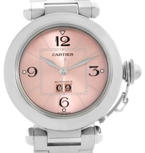 Cartier Cartier Pasha Big Date Pink Dial Automatic Steel Watch W31058m7