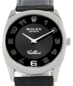 Rolex Rolex Cellini Danaos 18k White Gold Black Dial Mens Watch 4233
