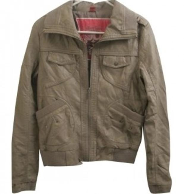 Other Grey/Olive Leather Jacket