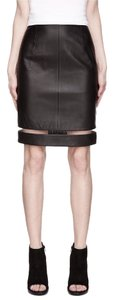 Alexander Wang Leather Fishline Pencil Skirt Black
