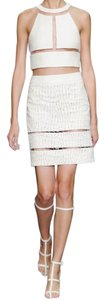 Alexander Wang Leather Skirt White