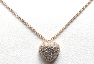 Cartier Cartier 18K Pink Gold Heart Motif Diamond Necklace