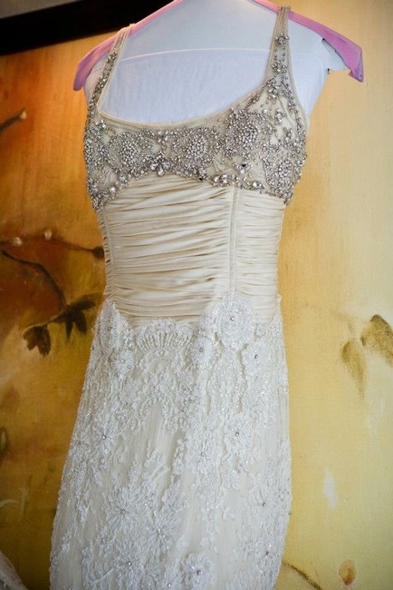 Item - Cream Lace Retro Wedding Dress Size 00 (XXS)