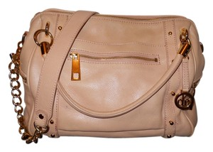 Audrey Brooke Leather Satchel in light pink