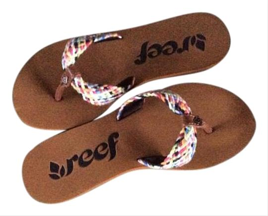 Reef Textile Upper Rubber Brown Sandals