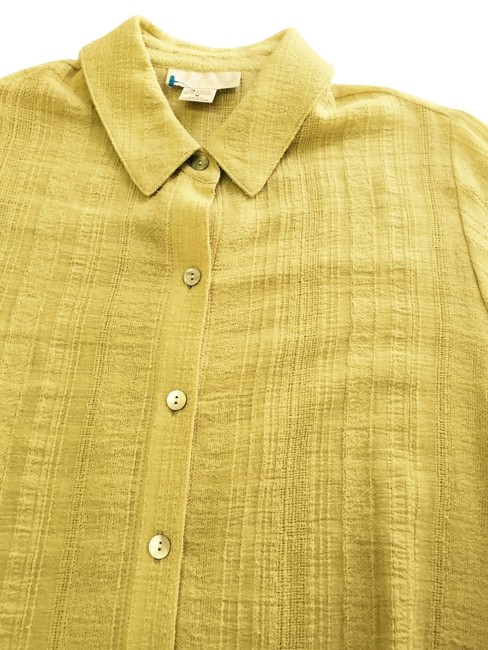 Soft Surroundings New Never Worn Smock Style. Cotton Attached Retail Tag Pristine Condition Soft Golden Lime Jacket