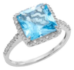 EFFY Diamond and Blue Topaz Ring