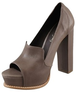 Elizabeth and James Pump Platform Hidden Platform Taupe Pumps