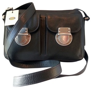 Fossil Zip Top Riley Leather Cross Body Bag