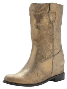 SCHUTZ Leather Metallic gold Boots