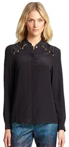 Marchesa Voyage Silk Top Black