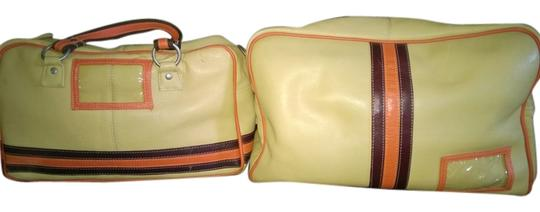 Preload https://item1.tradesy.com/images/carry-on-beige-with-orange-and-brown-stripes-leather-weekendtravel-bag-6106045-0-0.jpg?width=440&height=440