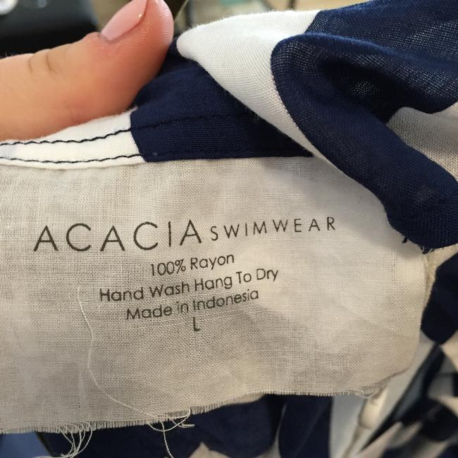 Acacia swimwear Blue and White Striped Dress Coverup with Tags