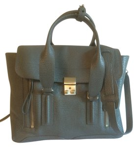 3.1 Phillip Lim Structured Leather Satchel in Storm