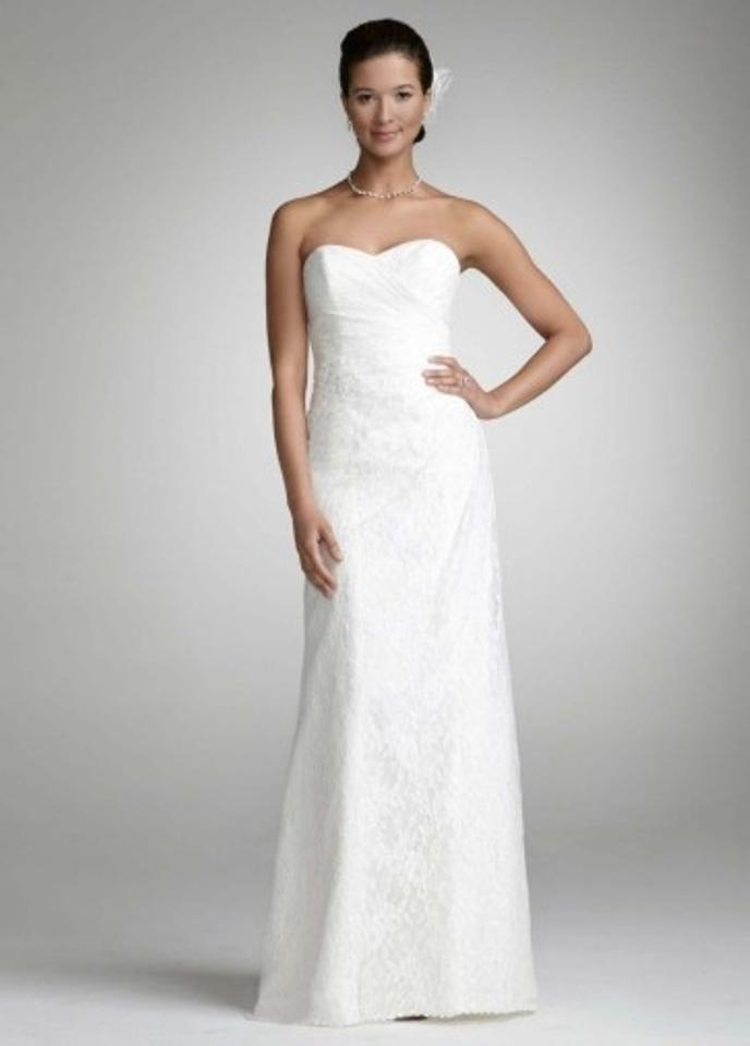 aeedd83541a David s Bridal Ivory Lace Wg3263 Sweetheart Strapless Go Wedding Dress