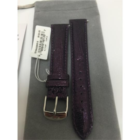 Michele NWT MICHELE WATCH STRAP PURPLE PATENT LEATHER 18MM