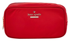 Kate Spade New! Kate Spade Red Nylon Classic Cosmetic Case