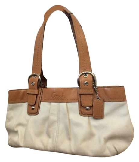 Preload https://item3.tradesy.com/images/coach-soho-white-and-tan-leather-satchel-6109057-0-3.jpg?width=440&height=440
