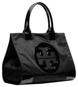 Tory Burch Tory Burch Ella Nylon Black Tote Bag
