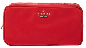 Kate Spade New! Kate Spade Red Nylon Large Classic Cosmetic Case