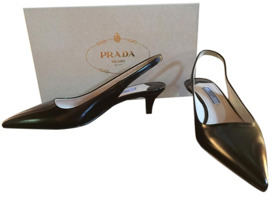 e7b7dcbe3803 Prada Black Calzature Donna Pumps Size US 6 Regular (M