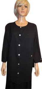 Hot Cotton Button Down Shirt Black