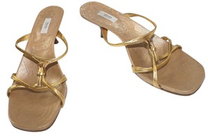 Prada Leather GOLD Sandals