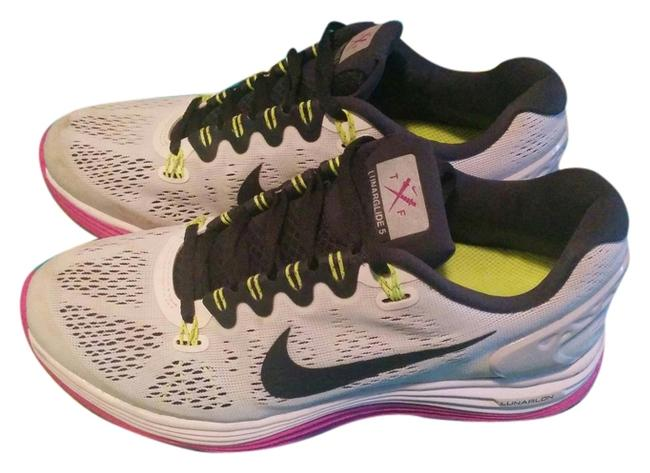 Item - White Pink Black Volt Lunarglide 5 Sneakers Size US 7.5 Regular (M, B)
