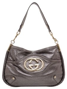 Gucci Gunmetal Metallic Platino Platinum Gold White Gold Gg Logo Mirror Lv Chanel Louis Vuitton Holiday Limited Editiion Gg Shoulder Bag