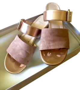 Aquatalia Champagne/Rose Gold Sandals