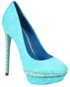 Brian Atwood B Fontanne Heels Turquoise Platforms