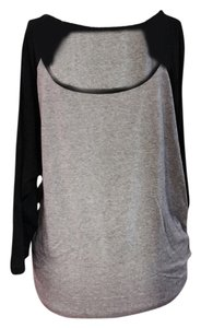 Hurley T Shirt Grey/black sleeves