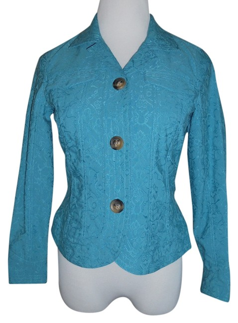 Coldwater Creek Tropical Teal Jacket