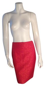 Ellen Tracy Linda Allard Coral Pencil Skirt Multicolor