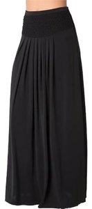 bebe Pleated Maxi Skirt black