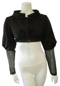 Ellen Tracy Shrug Shrug Black Blazer