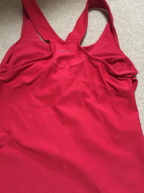 Nike Racer Back Dri Fit Red Top Tank S 4 6 Small
