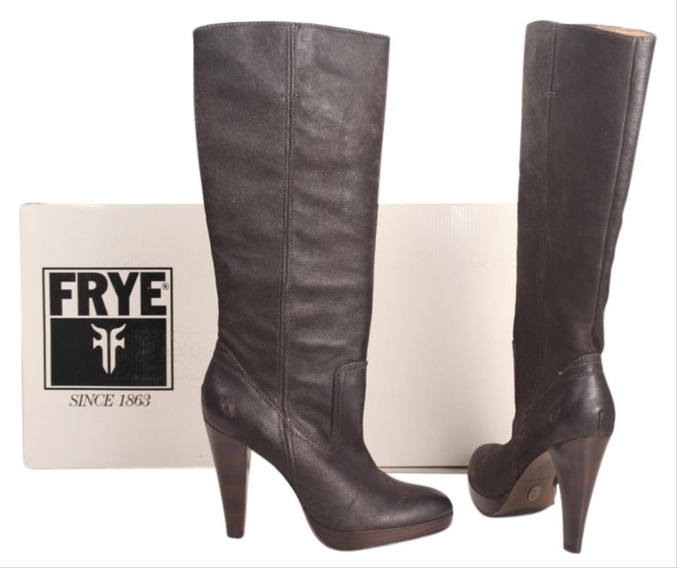 76017be67a0 Frye Charcoal Harlow Campus Tall Boots Booties Size US 9 Regular (M ...
