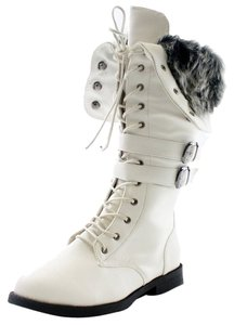 West Lace Up brown pu,White Pu,Grey Pu,Tan Pu Boots
