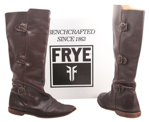 Frye Paige Tall Knee High Leather Brown Boots