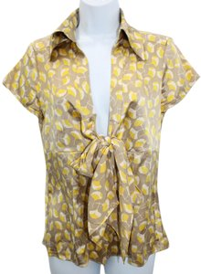 Diane von Furstenberg Printed Stretch Silk Top