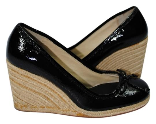 Coach #patentleather #coachshoes Black Wedges