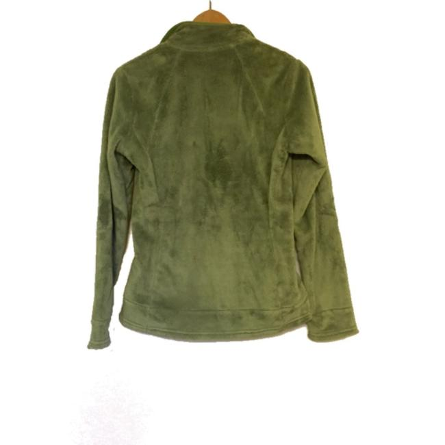 The North Face Green Fuzzy 1/4 Zip Jacket