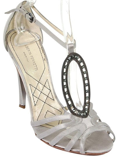 Preload https://item4.tradesy.com/images/alberta-ferretti-grey-pewter-gunmetal-satin-jeweled-strappy-cocktail-formal-shoes-size-us-7-6112048-0-0.jpg?width=440&height=440