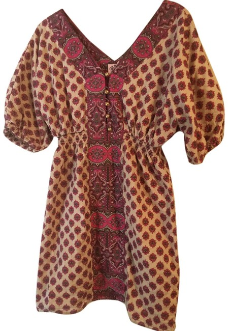 Juicy Couture short dress Multi color burgundy , cranberry , beige on Tradesy