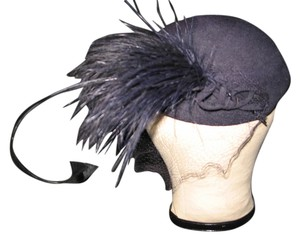Vintage Hat with netting & special plum